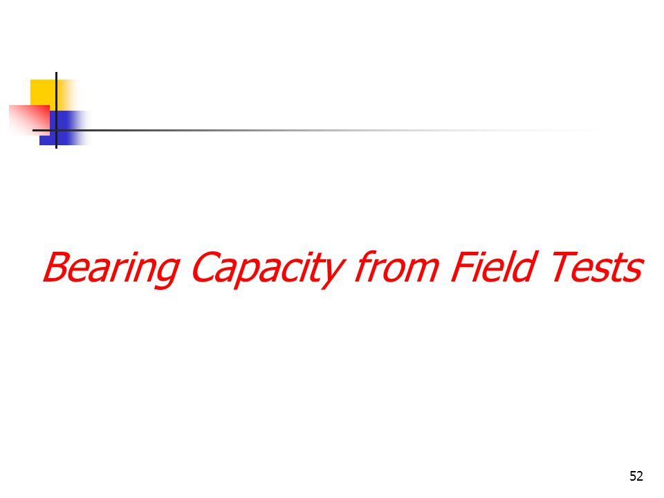 Bearing Capacity from Field Tests