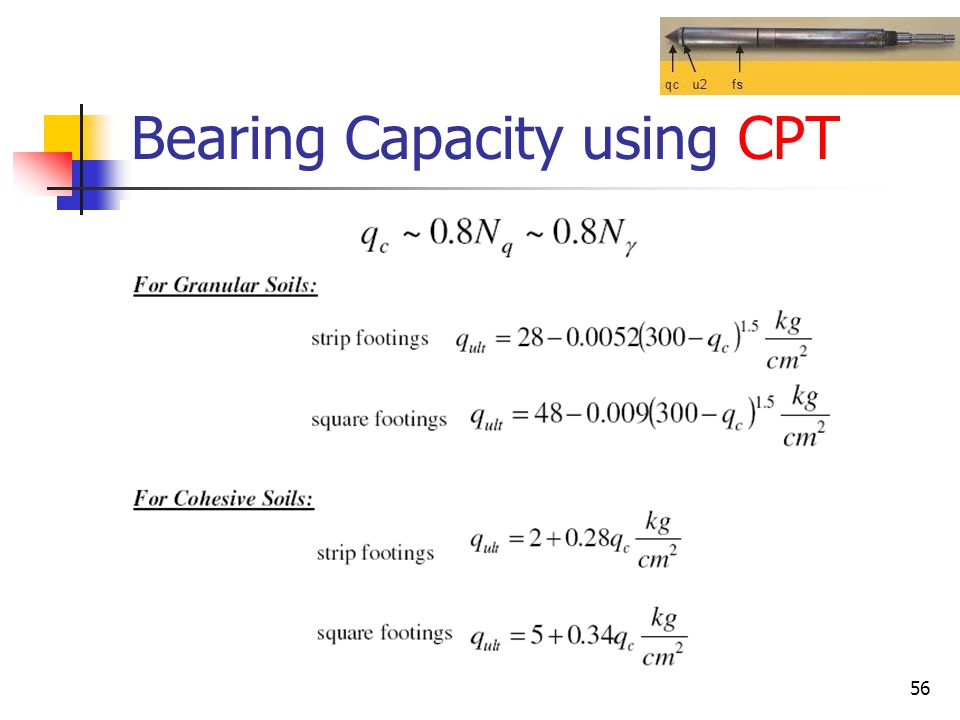 Bearing Capacity using CPT