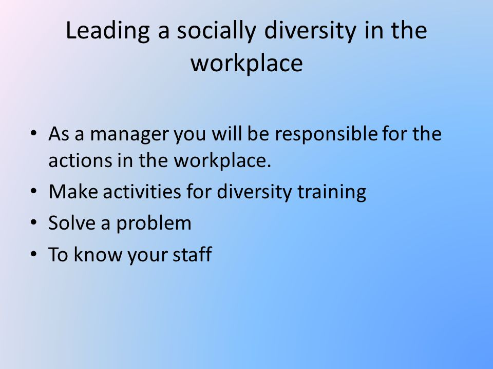 Manage workplace diversity - ppt video online download