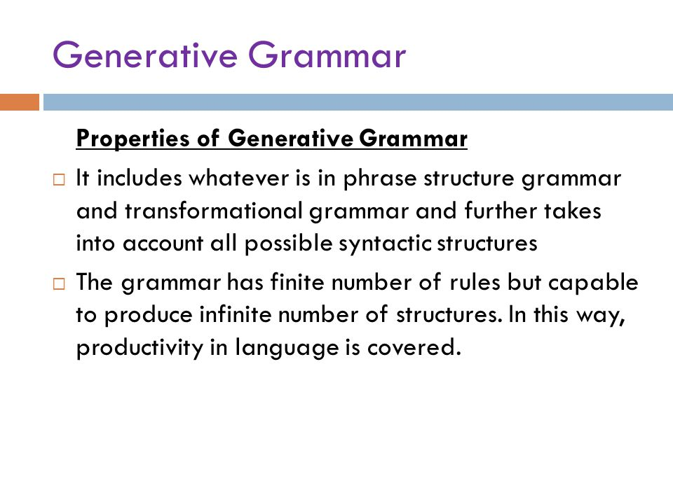 transformational grammar exercise answer