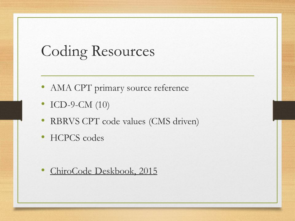 Coding Compliance For The Chiropractic Practice 2015 Anthony
