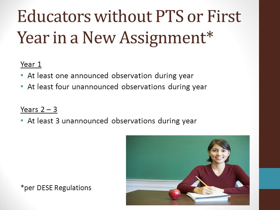 Educators without PTS or First Year in a New Assignment*