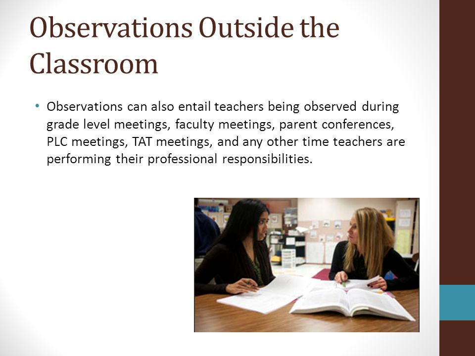 Observations Outside the Classroom