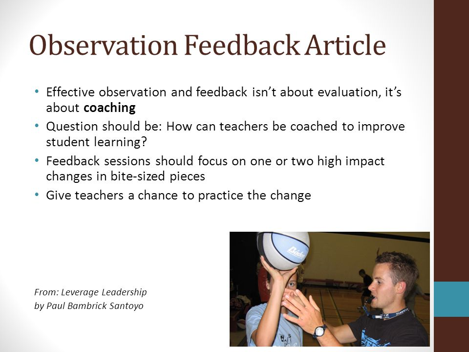 Observation Feedback Article