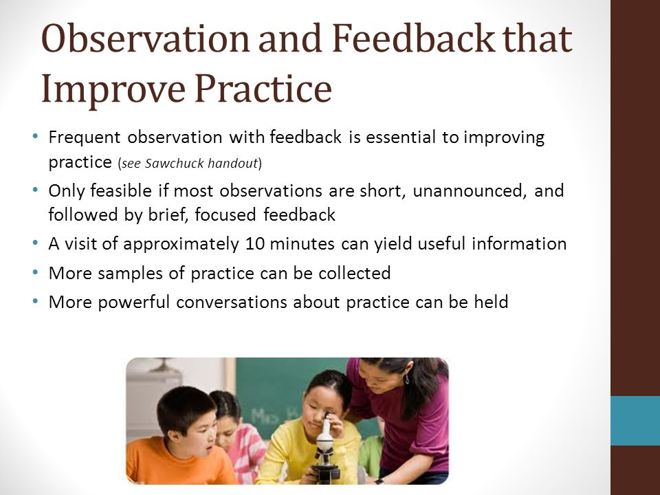 Observation and Feedback that Improve Practice