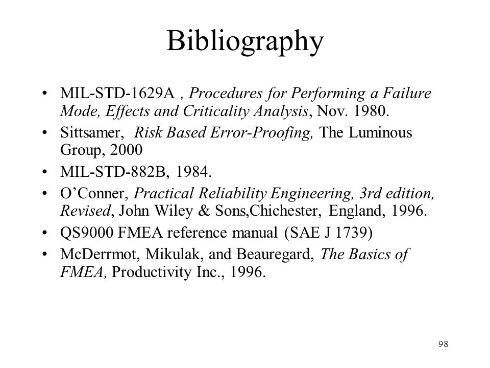 fmea failure modes effects analysis ppt download rh slideplayer com SAP Manual Reference Instruction Manual