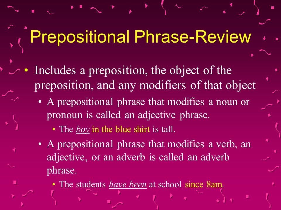 Prepositional Phrase-Review