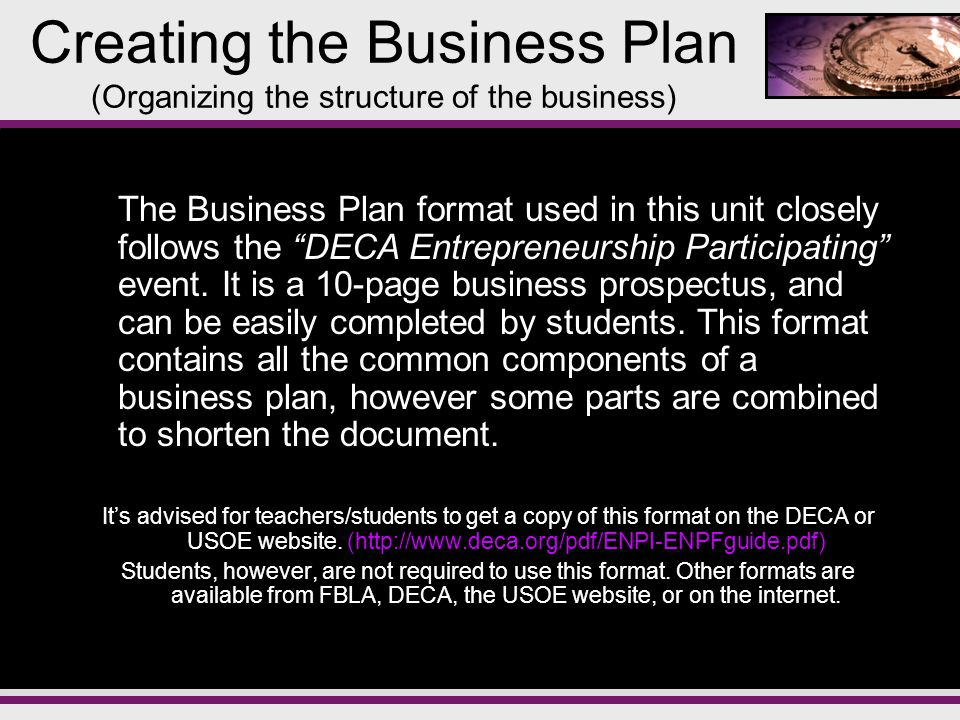 unit 3 2 creating the business plan ppt download