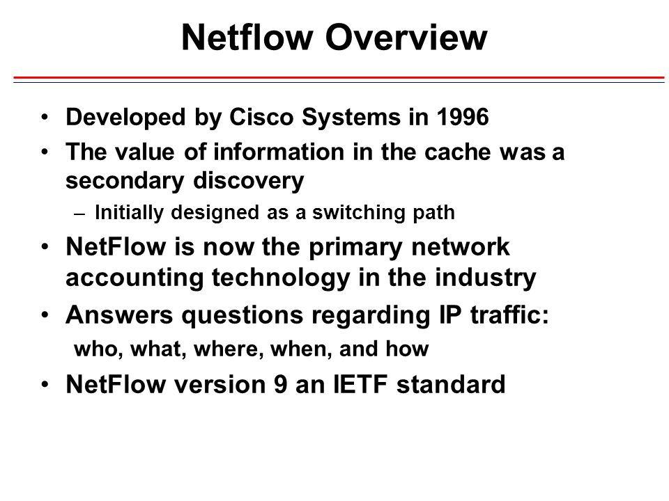 netflow overview developed by cisco systems in ppt download