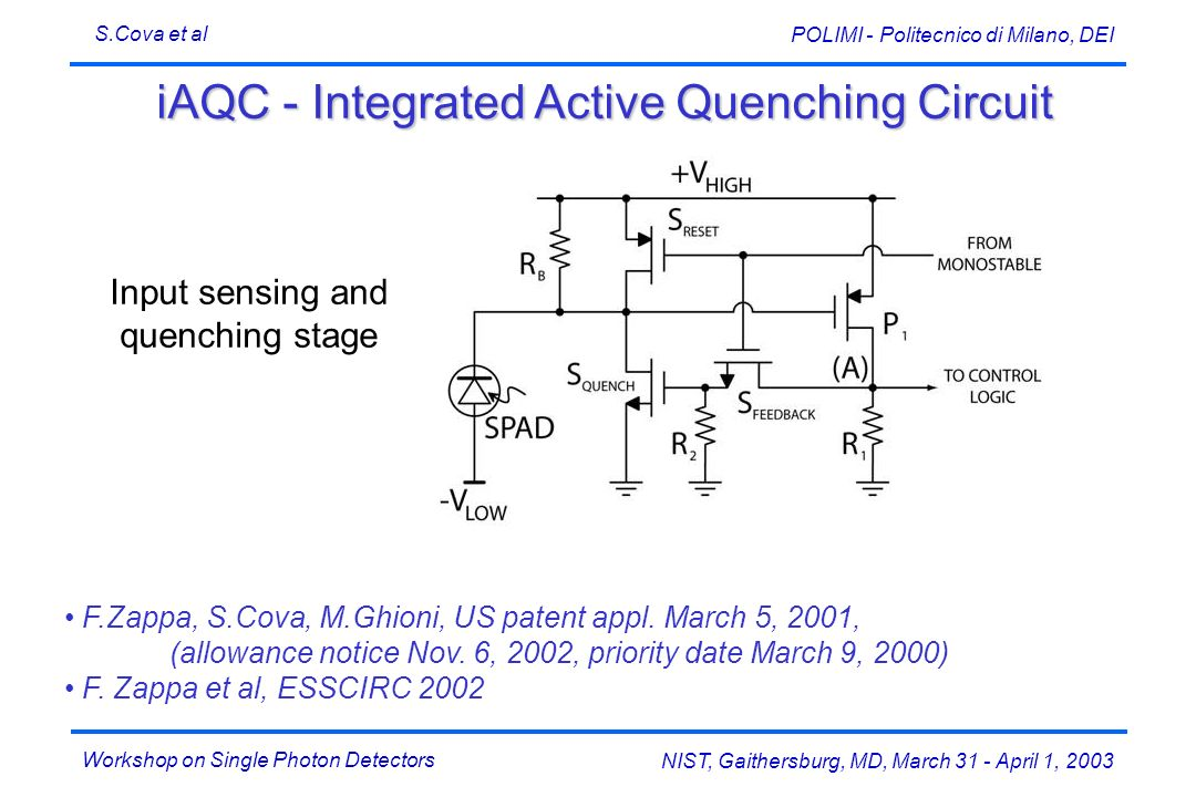 iAQC - Integrated Active Quenching Circuit
