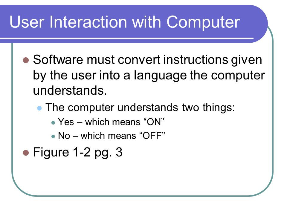 User Interaction with Computer