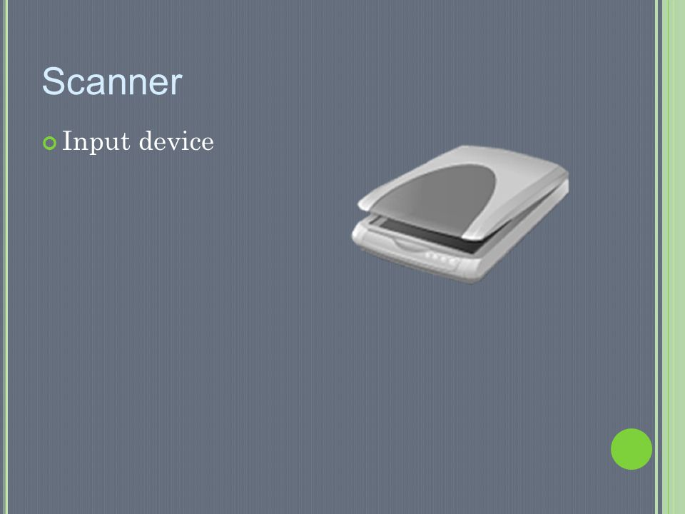 Scanner Input device