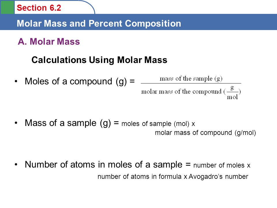 Objectives To Understand The Definition Of Molar Mass Ppt Video