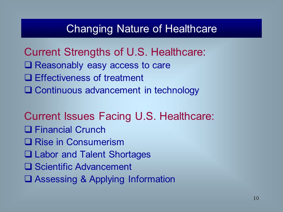 Changing Nature of Healthcare