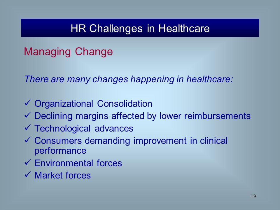 HR Challenges in Healthcare