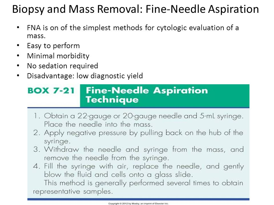 Biopsy and Mass Removal: Fine-Needle Aspiration