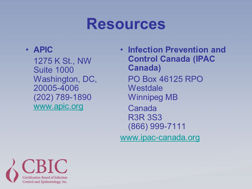 Certification In Infection Prevention And Control Cic Ppt Download