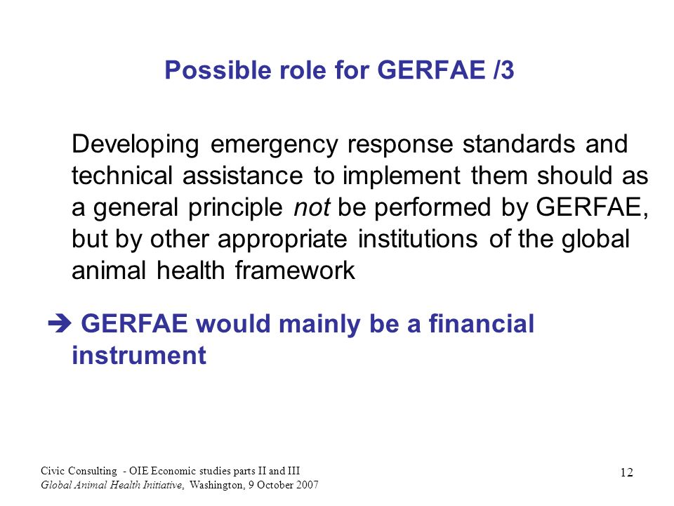 Possible role for GERFAE /3