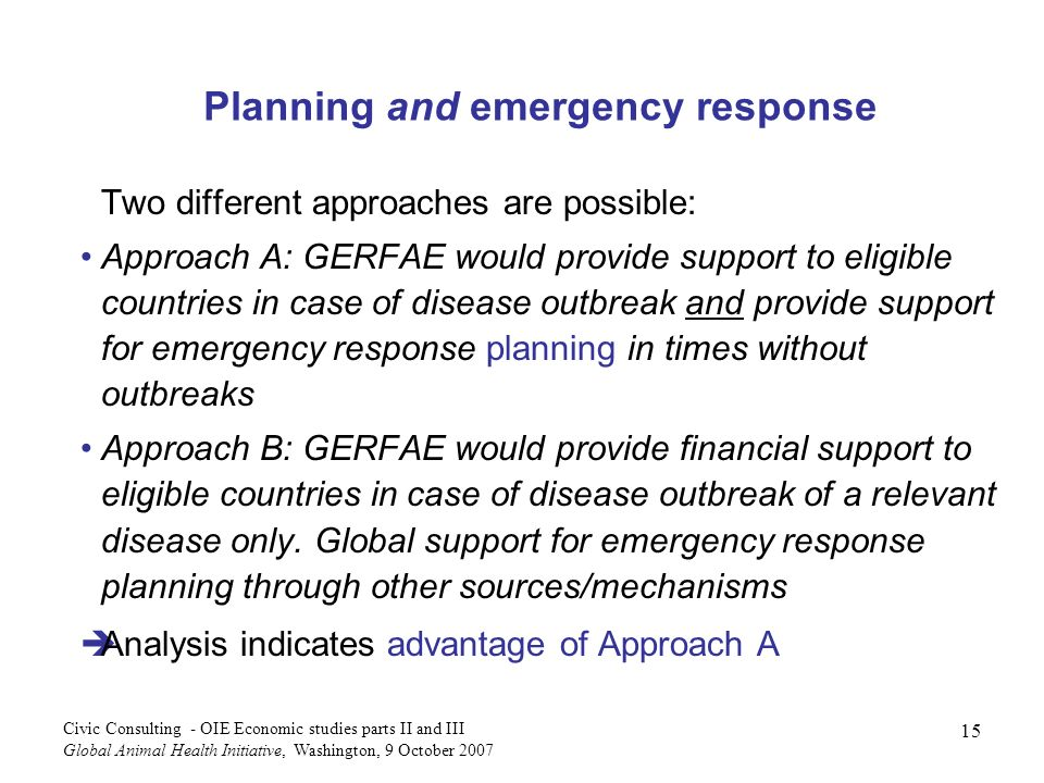 Planning and emergency response