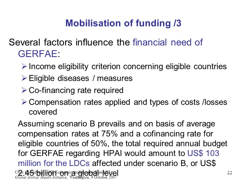 Mobilisation of funding /3