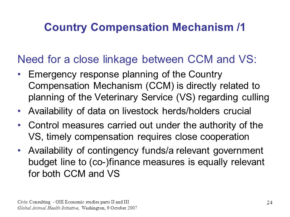 Country Compensation Mechanism /1