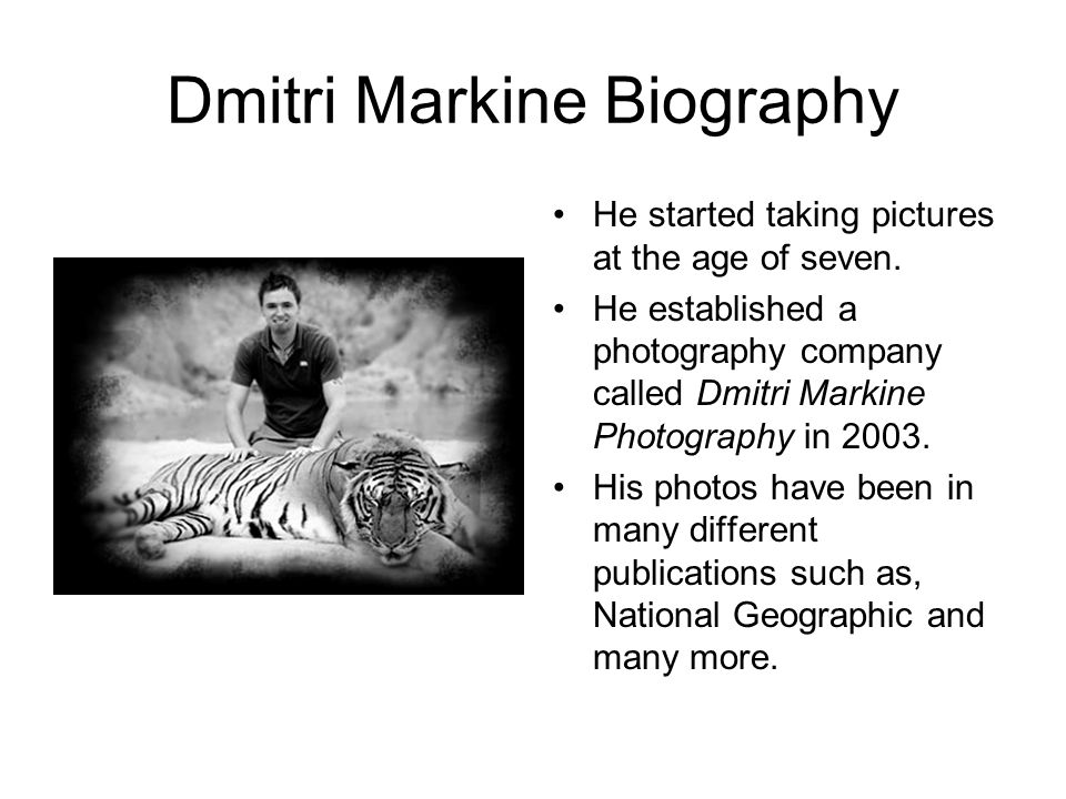 Dmitri Markine Biography