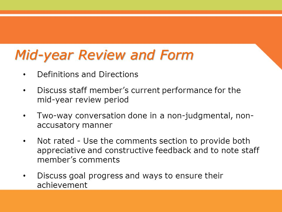 mid year review and form