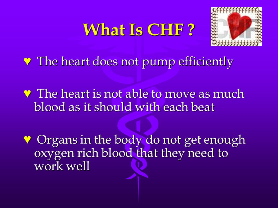 Congestive Heart Failure Chf Ppt