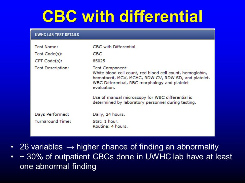 An approach to the patient with an abnormal CBC - ppt video