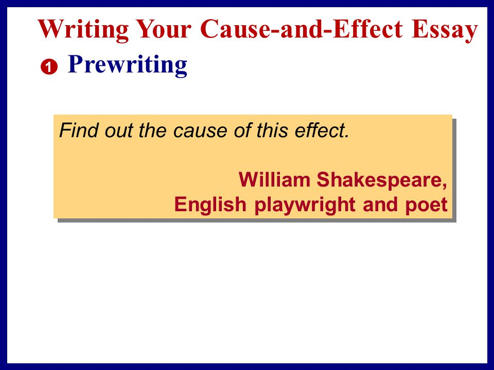 Writing Your Cause-and-Effect Essay