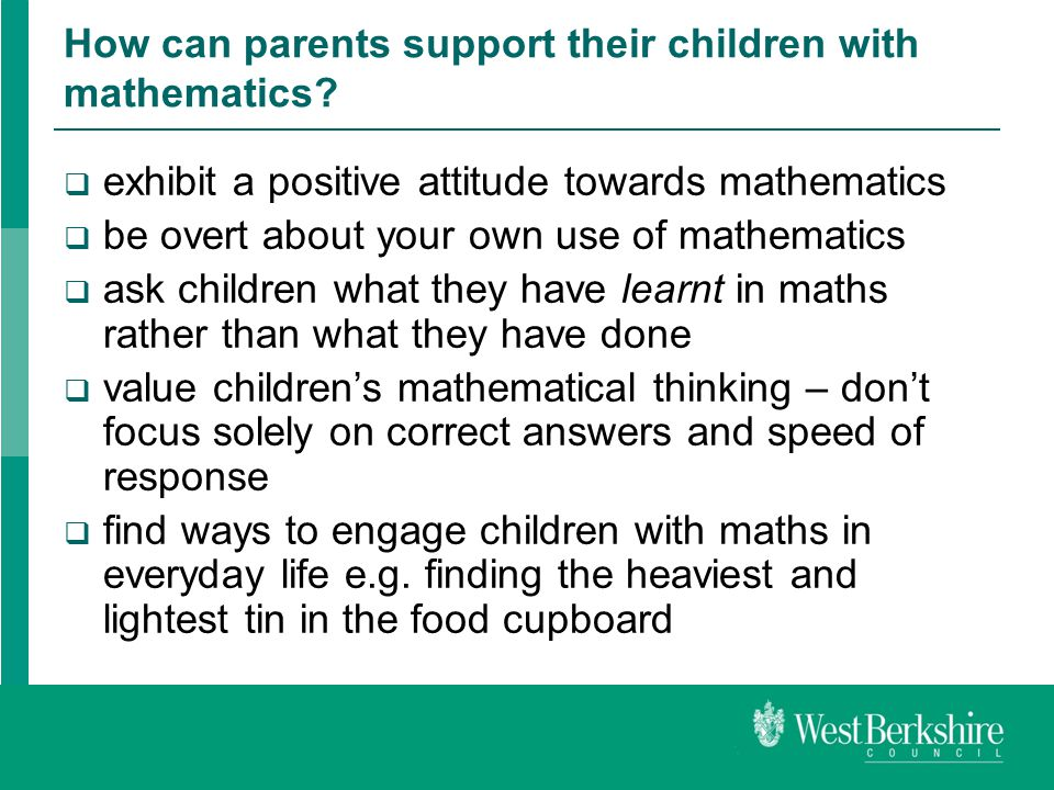 Helping your child make good progress in mathematics - ppt video ...