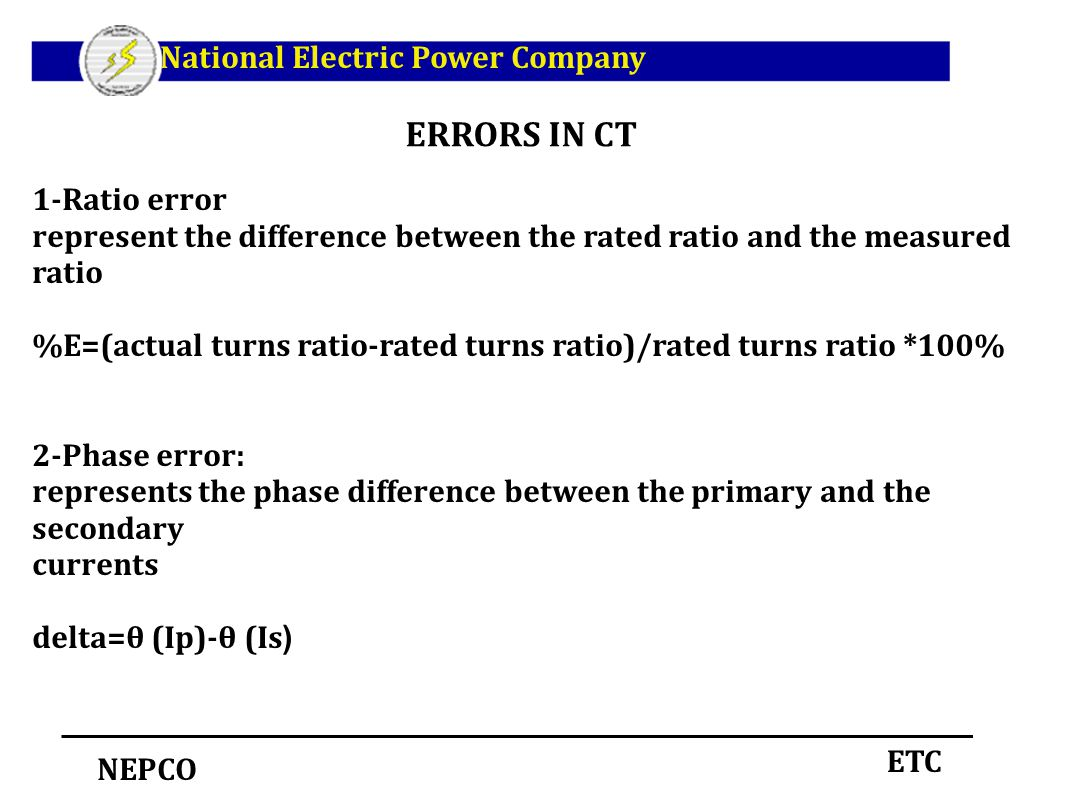 Current Transformer Ct Class Ratio Error Phase Angle In Open And Short Circuit Test On Electrical4u