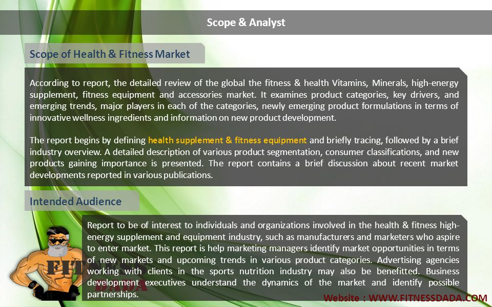Scope of Health & Fitness Market