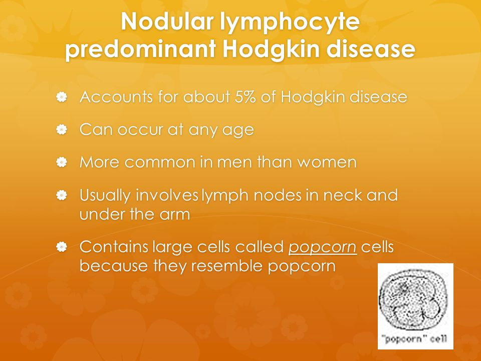 Nodular lymphocyte predominant Hodgkin disease