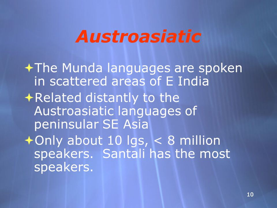 Languages of Asia Part 2: South Asia - ppt video online download