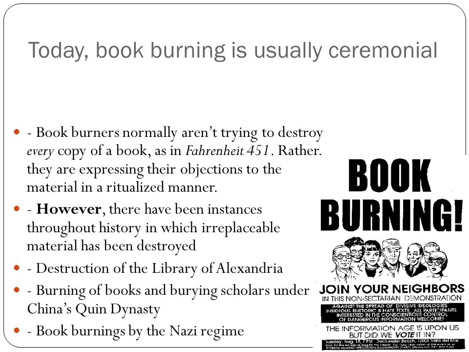 why does the government burn books in fahrenheit 451