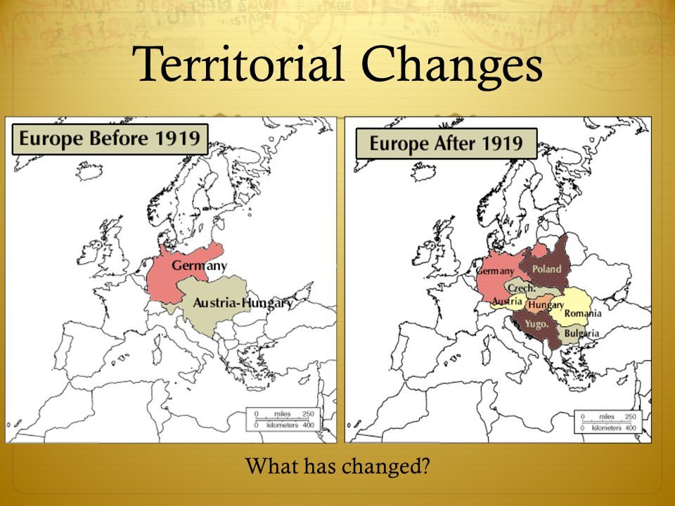 Territorial Changes What has changed