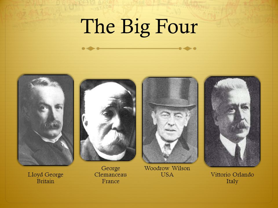 The Big Four Lloyd George Britain George Clemanceau France