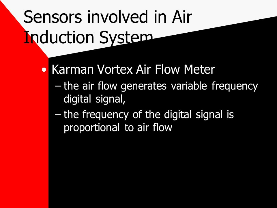 Sensors involved in Air Induction System