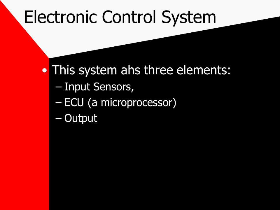 Electronic Control System