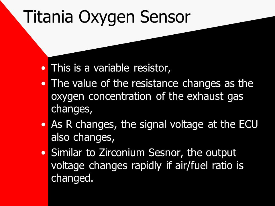 Titania Oxygen Sensor This is a variable resistor,