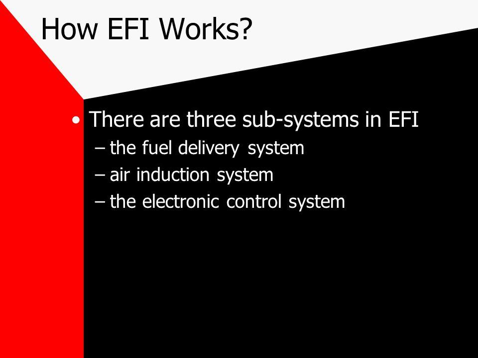How EFI Works There are three sub-systems in EFI