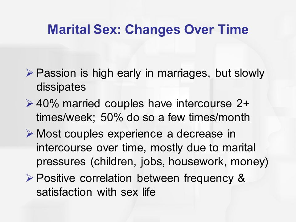 sex in marriage frequency