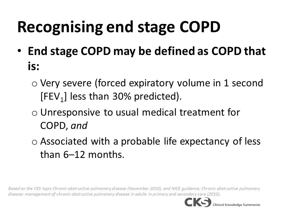 Managing end stage COPD in primary care - ppt video online