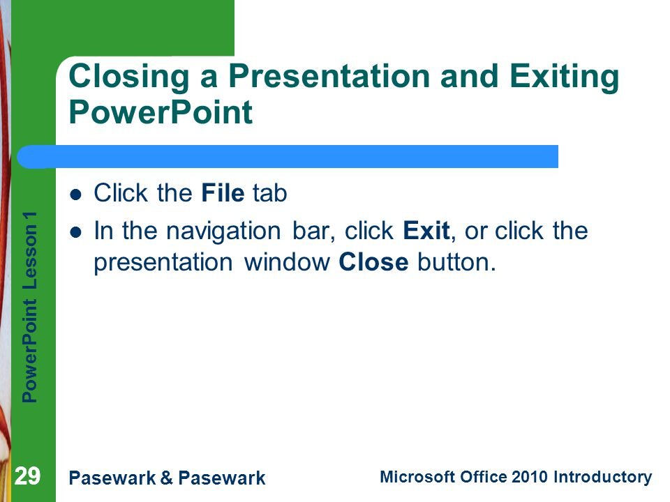 PowerPoint Lesson 1 Microsoft PowerPoint Basics - ppt video online