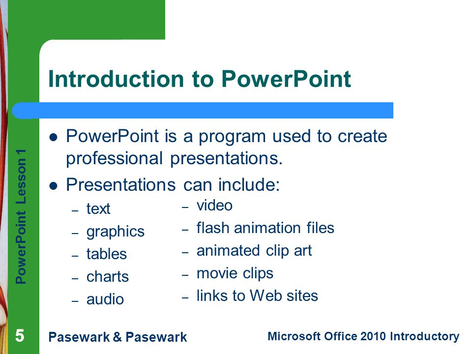 88a761307f321 PowerPoint Lesson 1 Microsoft PowerPoint Basics - ppt video online ...