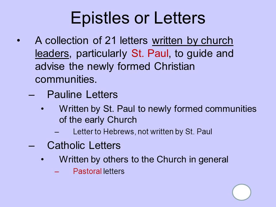 a letter to an early christian community is called overview of the new testaments ppt 20333 | Epistles or Letters
