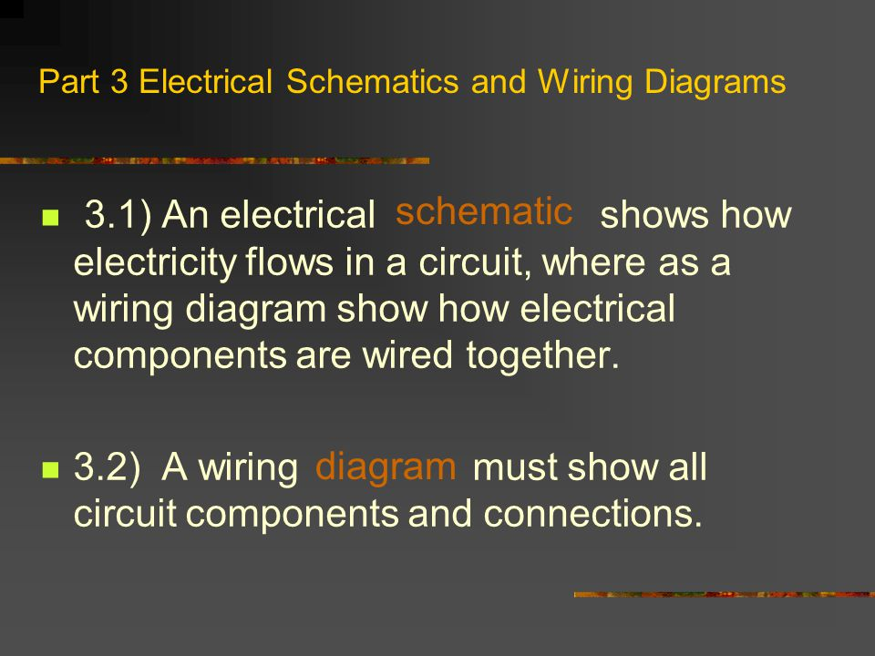 Part 3 Electrical Schematics and Wiring Diagrams