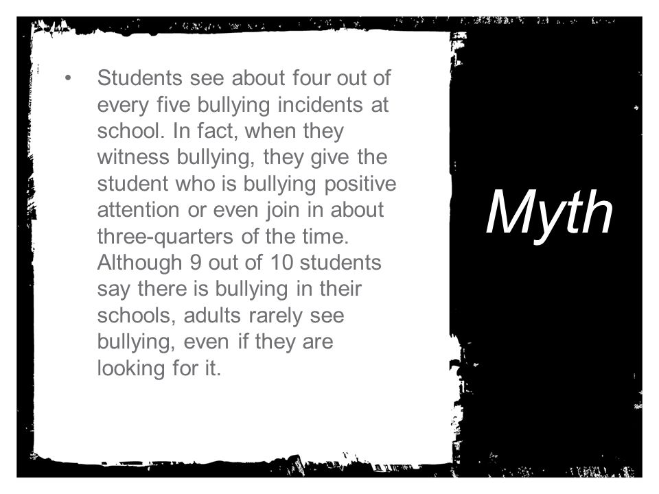 Students see about four out of every five bullying incidents at school