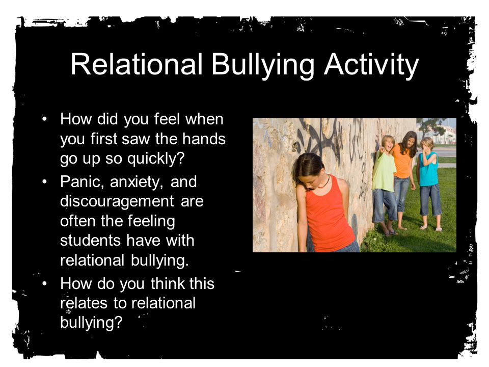 Relational Bullying Activity